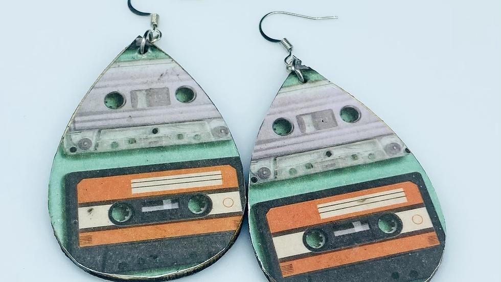 Vintage Cassette Dangle Earrings