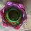 Thumbnail: Lotus Tea Light Dish   ~ Magenta/Green