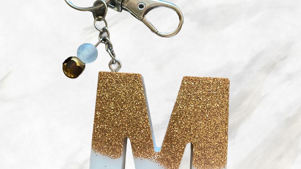 Monogram Keychain ~ M
