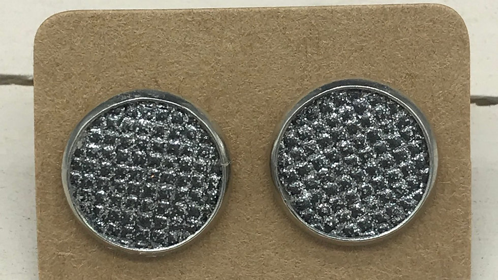 Silver Shimmer Studs