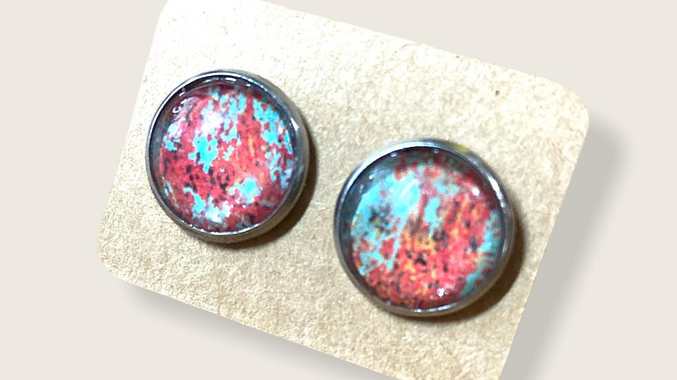Button Earrings ~ Vintage