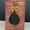 Thumbnail: Black /Gold Combo Dangle Earrings