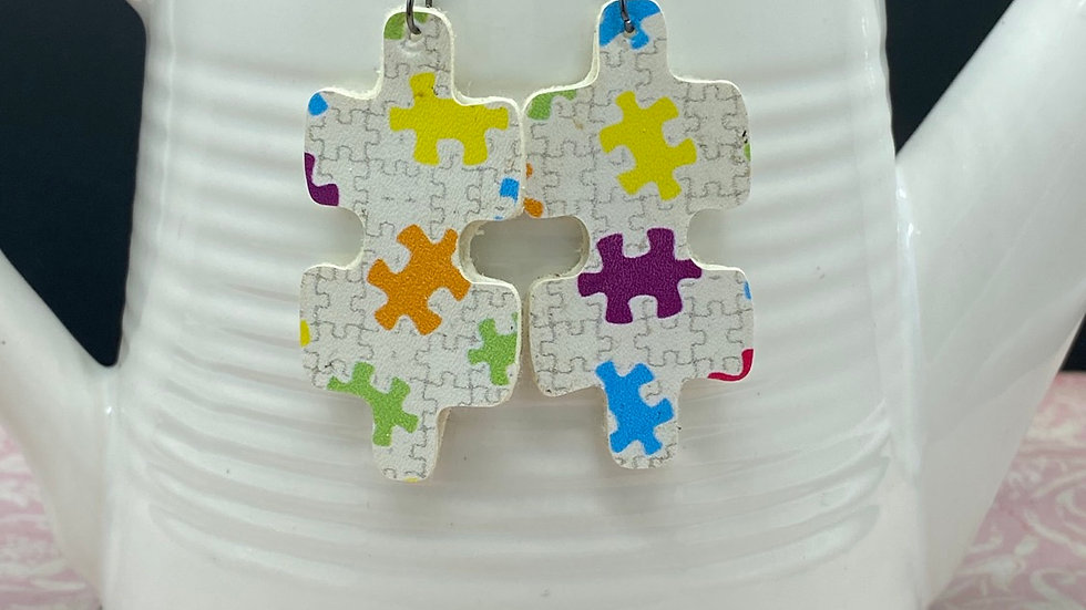 Autism Awareness Puzzle Earrings