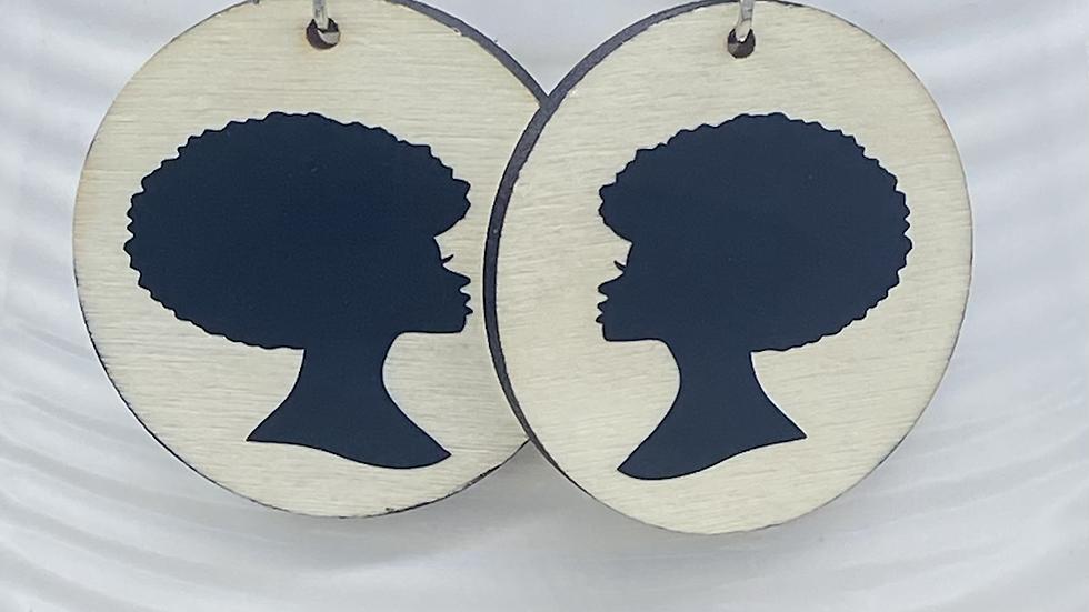 Afro Woman Silouette Earrings I