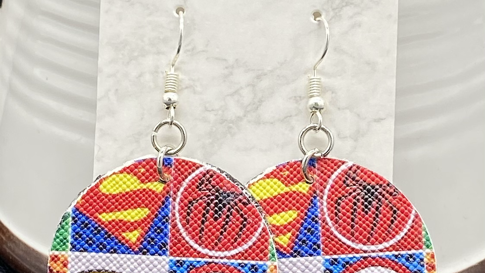 Superhero Earrings