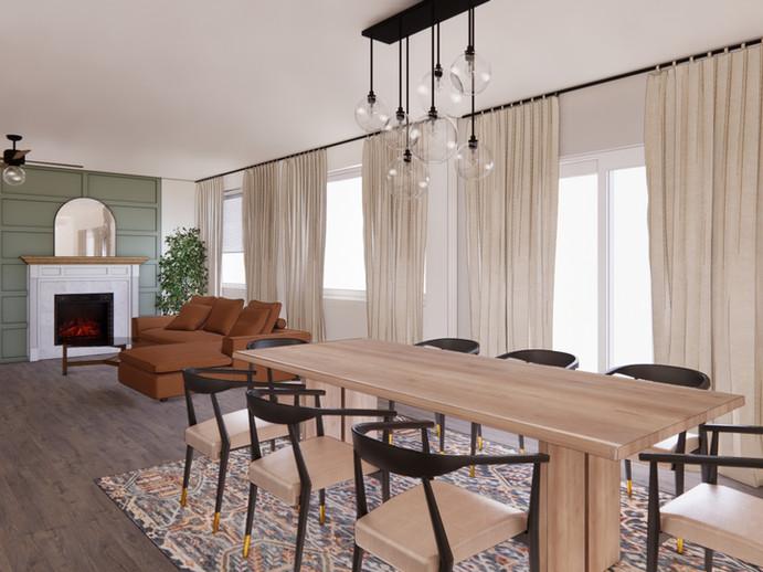 Dining Living Design