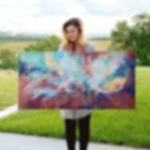 Artist, Alicia van Loenhout, Visual Fine Art, Abstract, Art, Painting, Dream, Sky, AvL,Studio, Painter