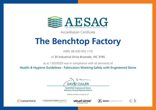 AESAG_Accreditation_Certificate_The Benc