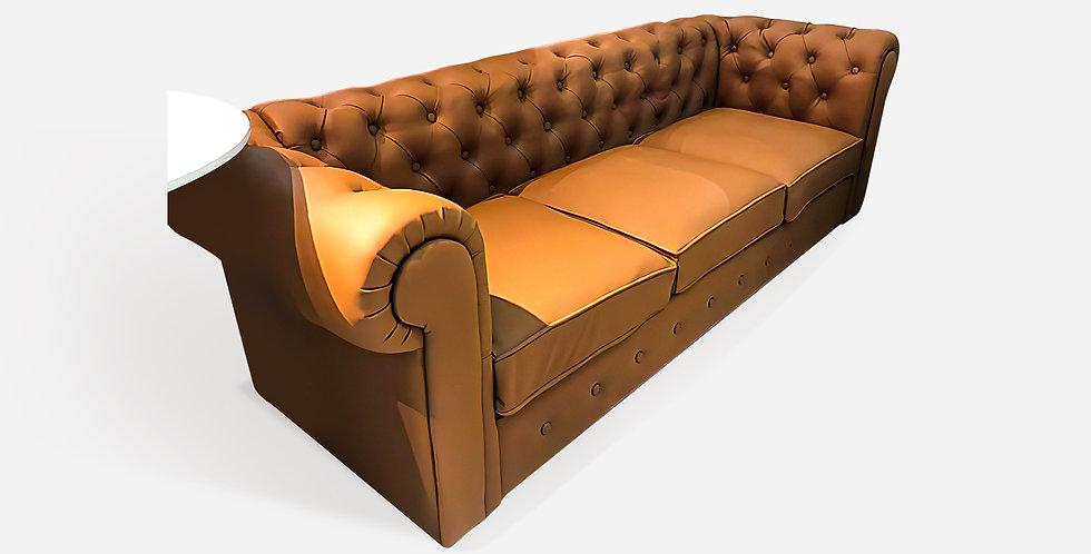 Sofa băng ba chỗ màu nâu - 01