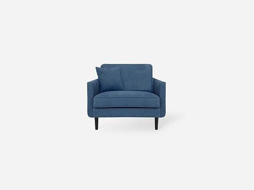 Sofa đơn bọc vải màu Xanh đậm