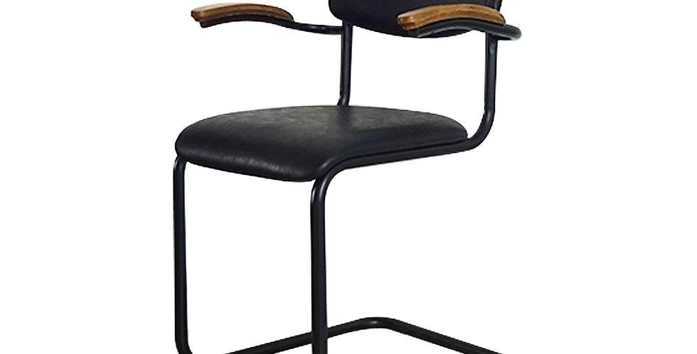 Ghế ăn gỗ bọc nệm đen DC-006