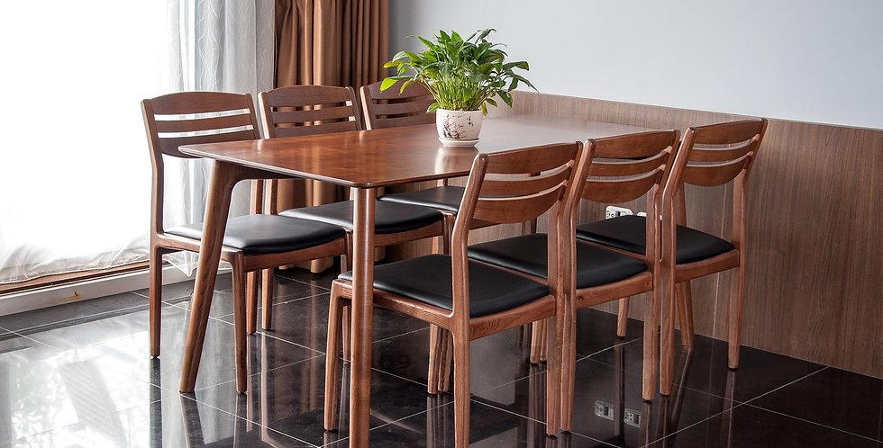 Bàn ghế ăn DS-020 (1 bàn + 6 ghế)