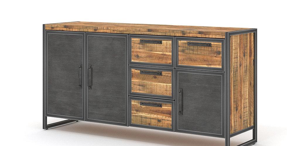 Tủ chén bát kim loại phối gỗ keo CN-004