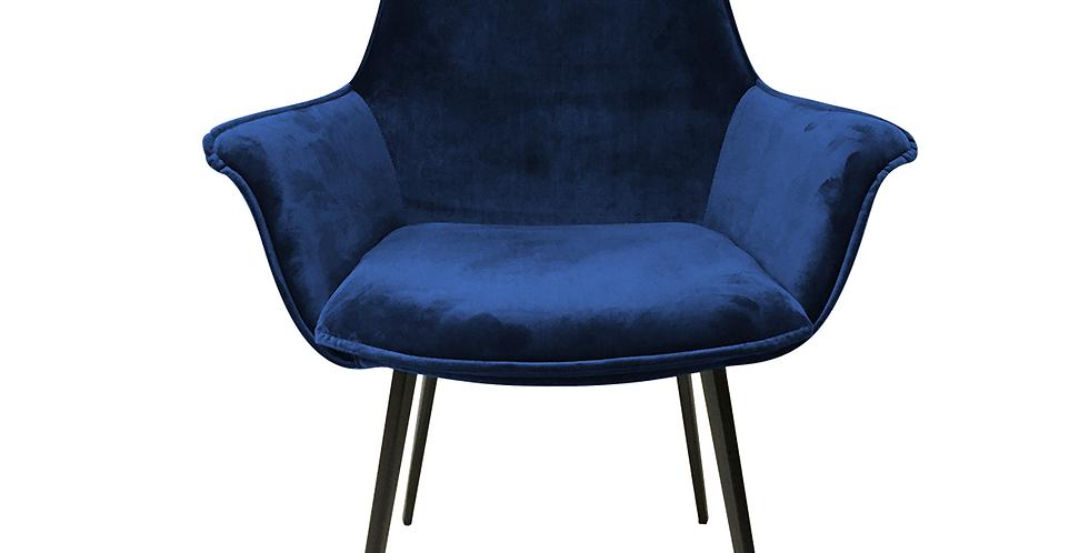 Ghế khung kim loại bọc nhung xanh dương - CH-007