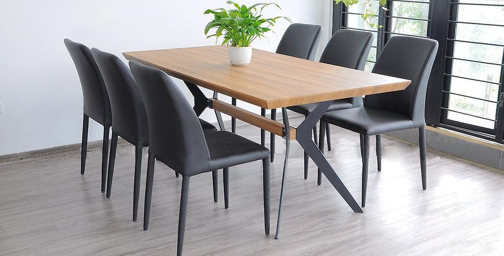 Bộ bàn ghế ăn DS-018 (1 bàn + 6 ghế)