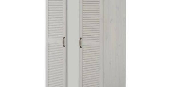 Tủ quần áo hai cánh trắng kèm gương WD-018