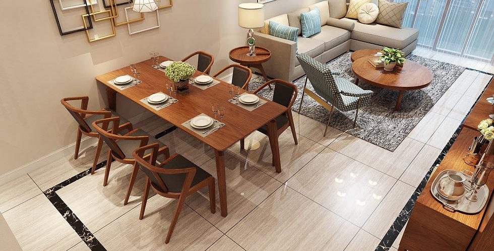 Bộ bàn ăn DS-022 (1 bàn + 6 ghế)