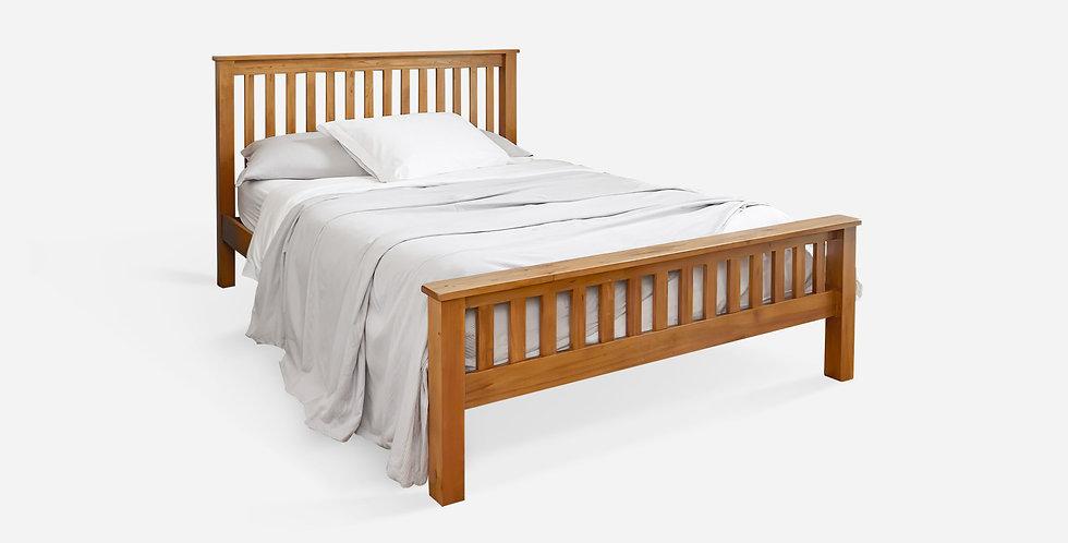 Giường ngủ gỗ sồi Mỹ nan 2 đầu