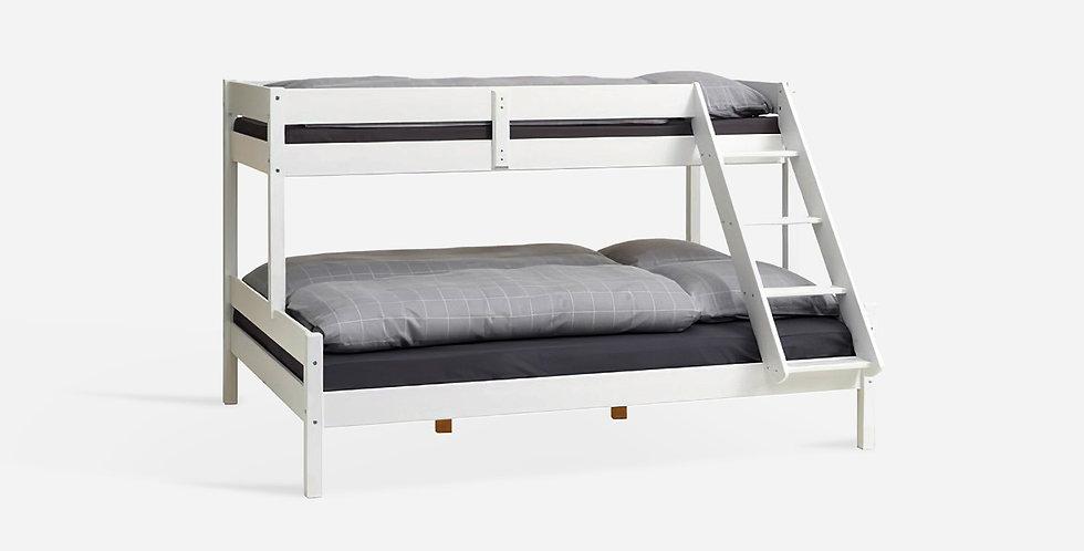 Giường tầng cho bé gỗ tự nhiên màu trắng - 02