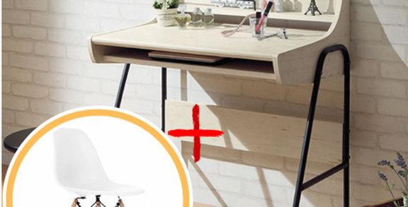Bàn làm việc DE-008 gỗ trắng kèm ghế