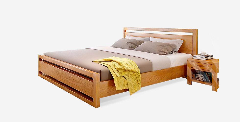 Giường ngủ gỗ Sồi Mỹ đầu hở