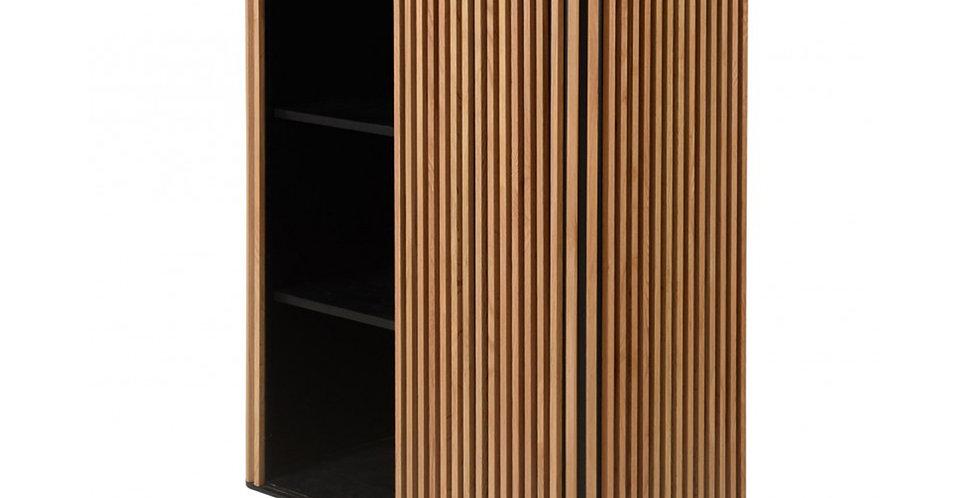 Tủ chén bát cao CN-003 gỗ sồi chân kim loại