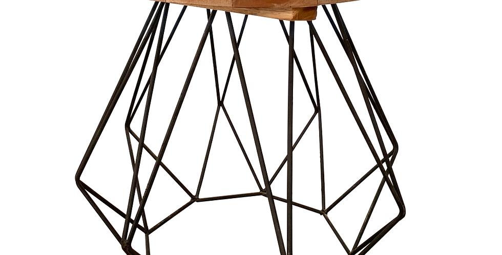 Bàn bên NS-005 gỗ Teak chân kim loại