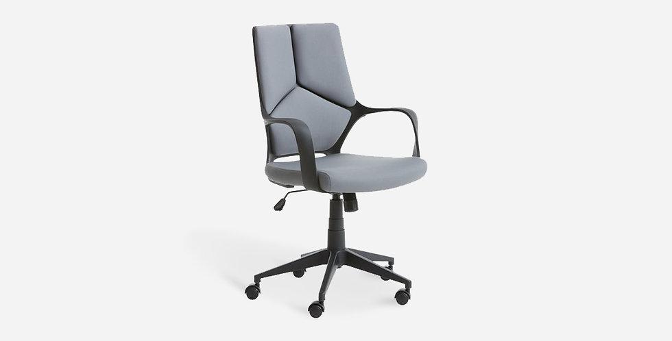 Ghế văn phòng đệm mút bọc vải Xám - 03