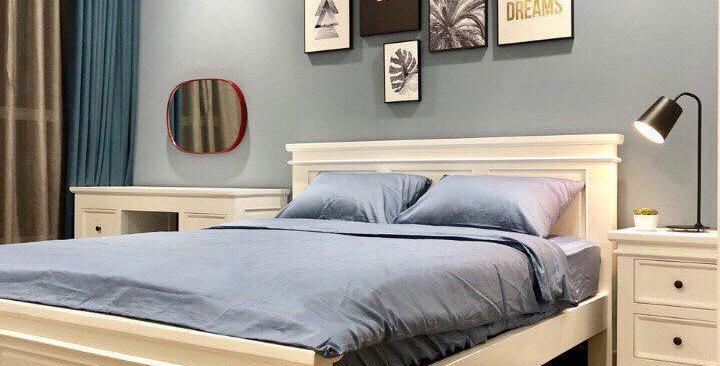 Giường ngủ trắng hiện đại