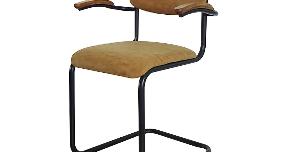 Ghế ăn gỗ bọc nệm nâu DC-007