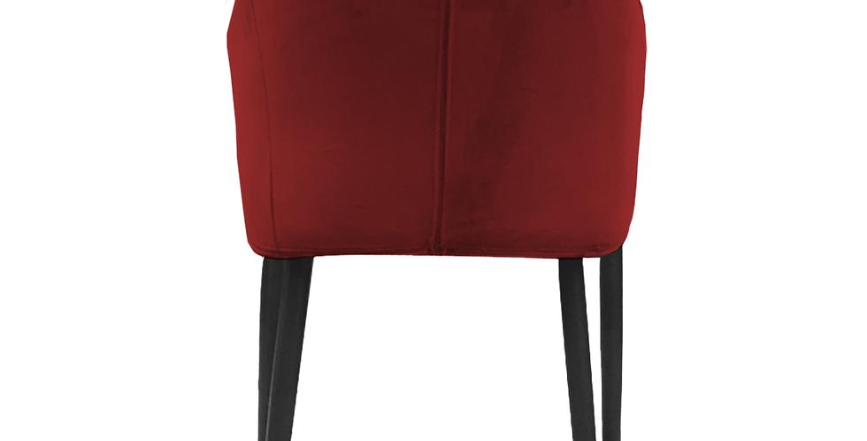 Ghế gỗ óc chó bọc nhung đỏ CH-011