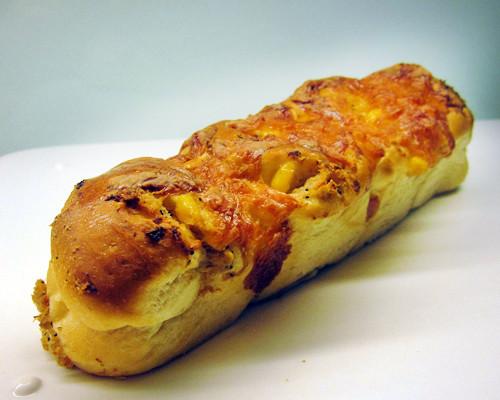 玉米素鮪麵包
