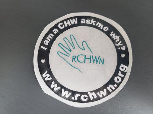 """I am a CHW"" Circle Decal"