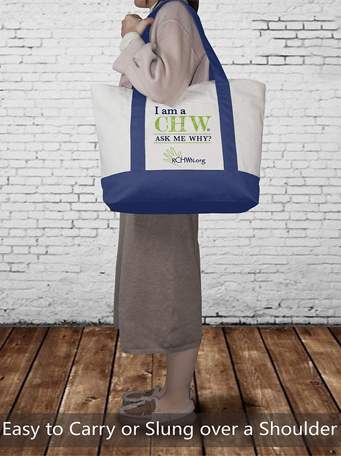 """I am a CHW"" Canvas Tote"