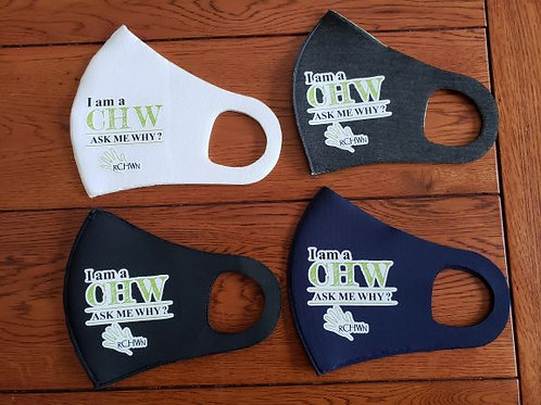 """I am a CHW"" Neoprene Mask"