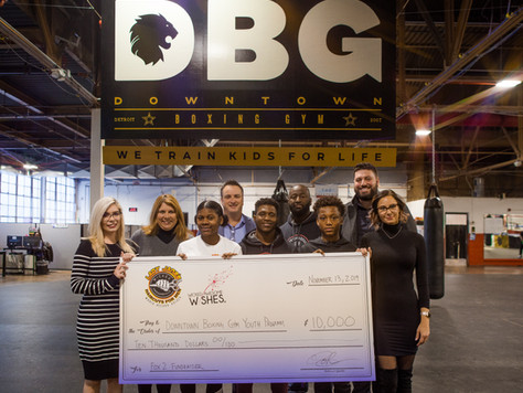 WAW matches every dollar raised for Downtown Boxing Gym - Detroit