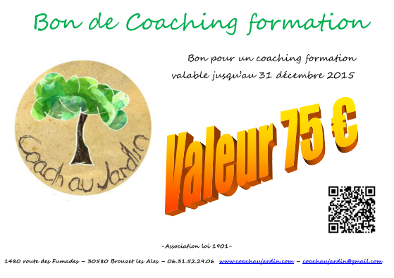 bon de coaching formation