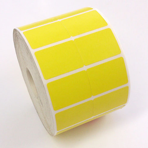LABEL 35X25 THERMAL PERMANENT YELLOW 2 ACROSS