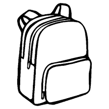 bookbag coloring pages - photo#41