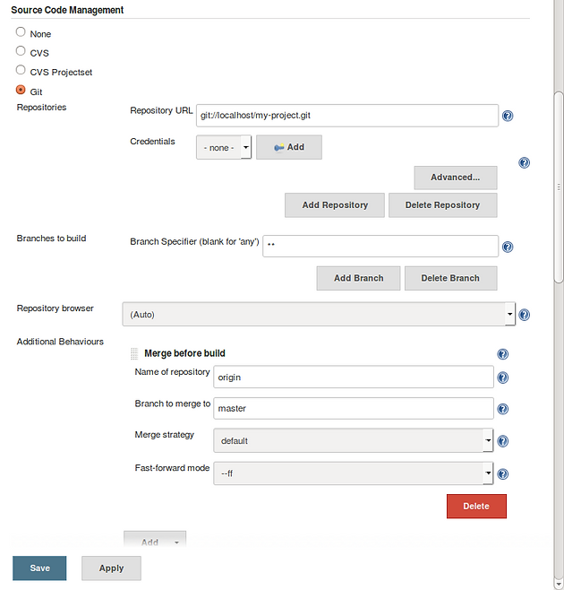 Minimal Continuous Integration for Git projects with Jenkins (and a