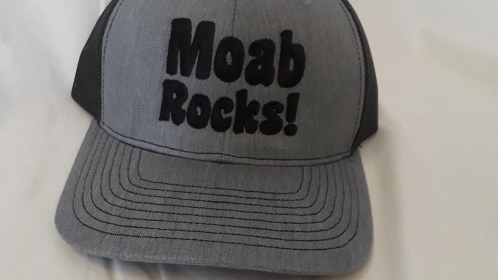 """Moab Rocks!"" snapback cap"