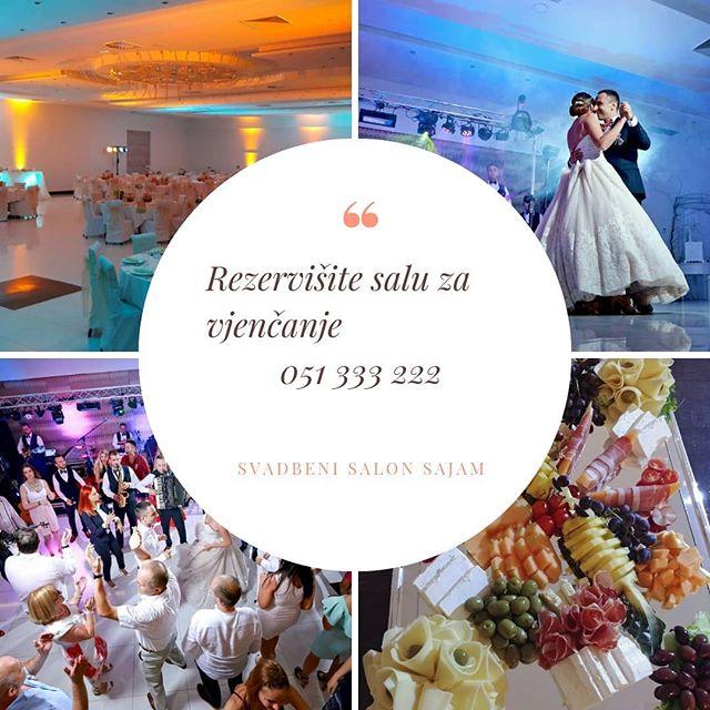 Rezervišite na vrijeme salu za vjenčanje