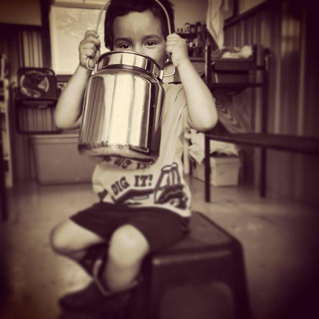 Start em young #goatmilk