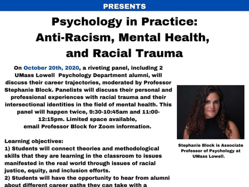 Psychology in Practice: Anti-Racism, Mental Health, and Racial Trauma
