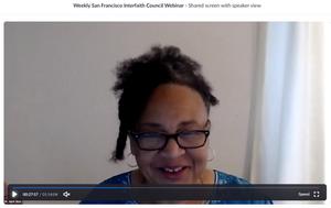 Dr. April Silas leads the San Francisco Interfaith Council Webinar