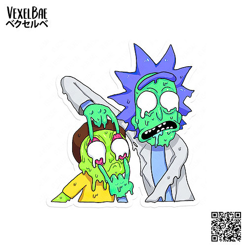 rick and morty - melted face
