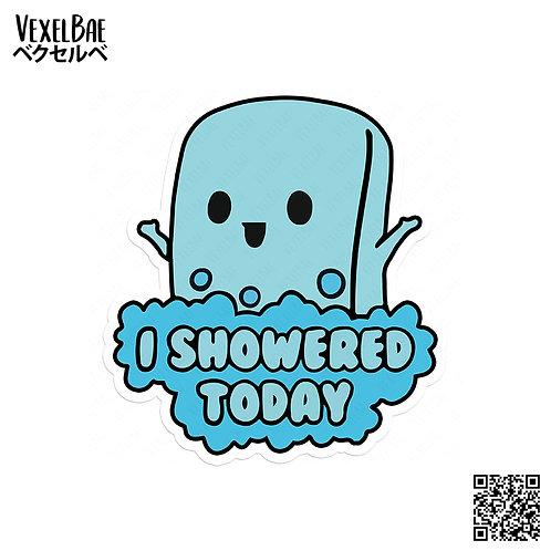 i showered soap
