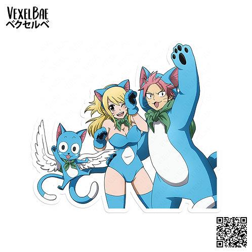 Happy Neko Natsu and Neko Lucy