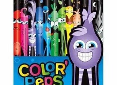 Lapices De Colores Black Monster X12 Maped Color Peps