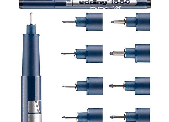 Edding - 1880 Microfibra graduada  NEGRO 0.8